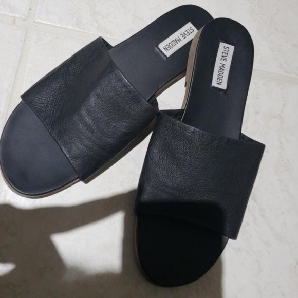 f069e87444d Steve madden karolyn flat sandal black color